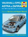 Haynes Workshop Manual Vauxhall Astra & Zafira Petrol (Feb 98 - Apr 04) R-04 reg